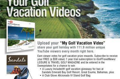 Leisure & Travel Golf Magazine My Golf Vacation Video