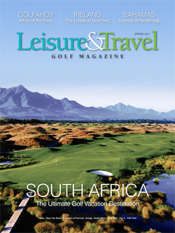 Leisure & Travel Golf Magazine Advertorial Advertising
